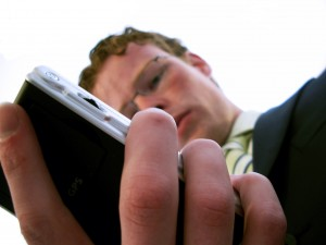 put away phone at networking event